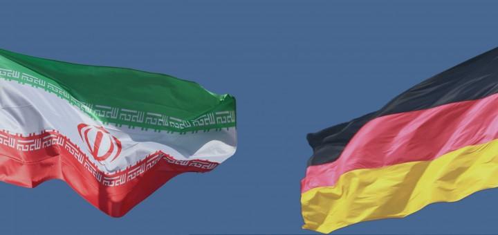 پرچم های ایران و آلمان